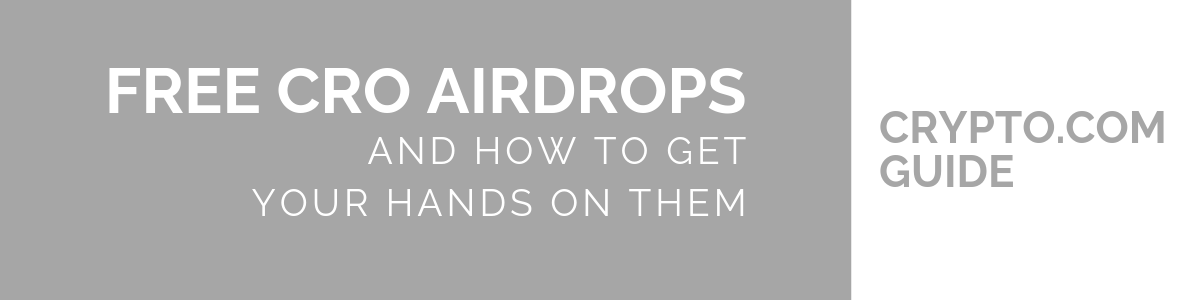 Free CRO airdrops – How to get them